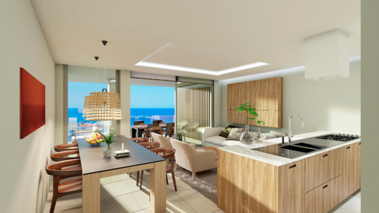 Newly built 3 bedroom apartments with large terrace and amazing sea ...